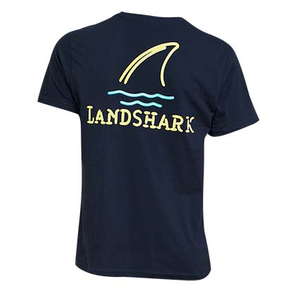 Landshark Men's Blue Neon Shark T-Shirt
