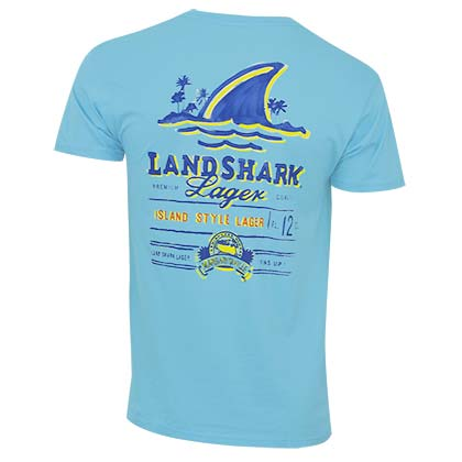 Landshark Men's Light Blue Tee Shirt