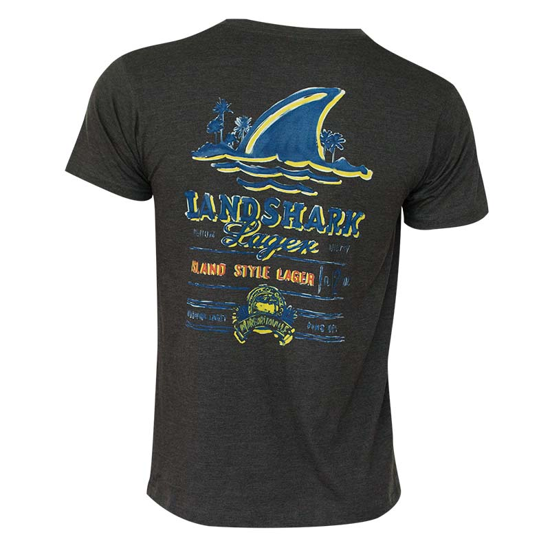 Landshark Men's Black Painted T-Shirt