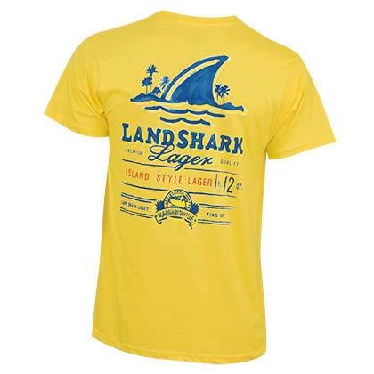 Landshark Painted Logo Men's Yellow T-Shirt