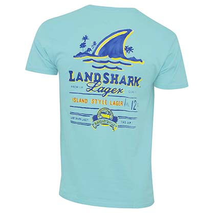Landshark Men's Mint Green T-Shirt