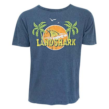 Landshark Lager Men's Navy Blue Palms Logo T-Shirt