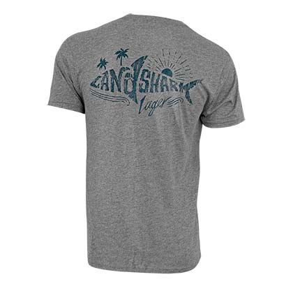 Landshark Lager Men's Grey Shark Logo T-Shirt