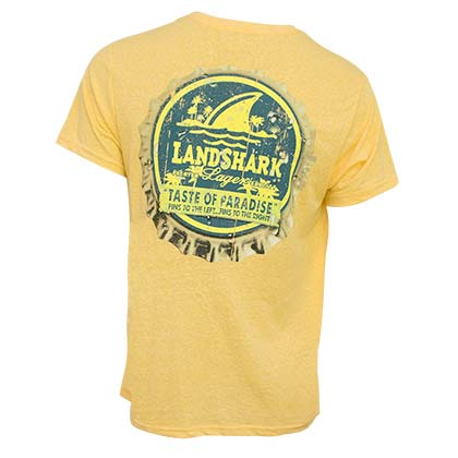 Landshark Men's Yellow Bottle Cap T-Shirt