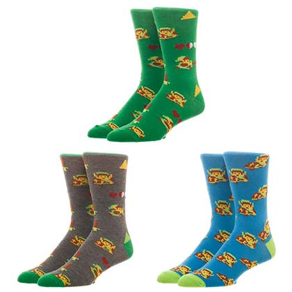 Legend Of Zelda Pixels Men's Sock Set
