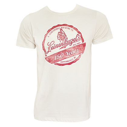 Leinenkugel Men's Off-White Vintage T-Shirt
