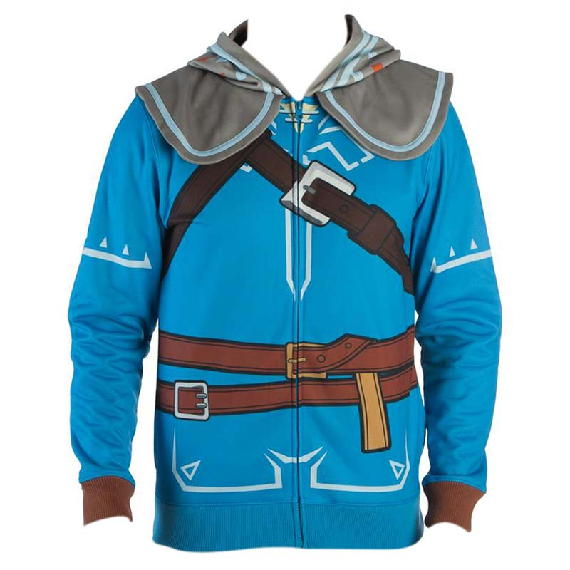 The Legend Of Zelda Breath Of The Wild Link Costume Men's Hoodie