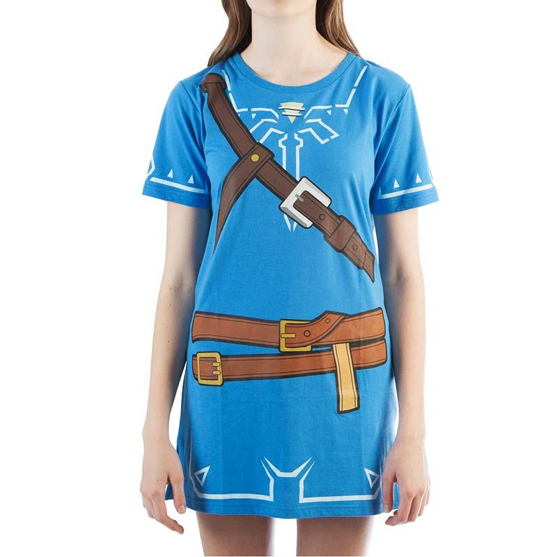 The Legend Of Zelda Womenu0027s Blue Breath Of The Wild Tunic Costume Dress ...  sc 1 st  SuperheroDen.com & The Legend Of Zelda Womenu0027s Blue Breath Of The Wild Tunic Costume ...