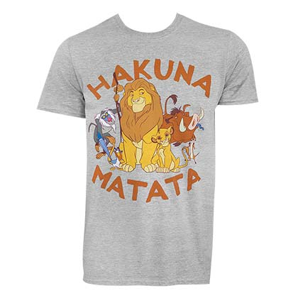 Lion King Men's Grey Hakuna Matata T-Shirt
