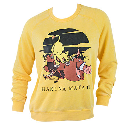 Lion King Yellow Ladies Crewneck Sweatshirt
