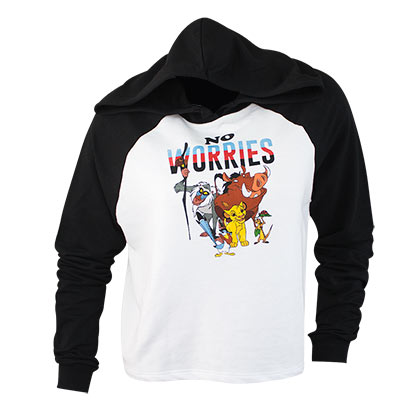 Lion King Ladies No Worries Crop Top Hoodie