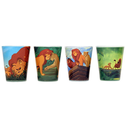 Disney Lion King Cartoon 4 PC Shot Glass Set