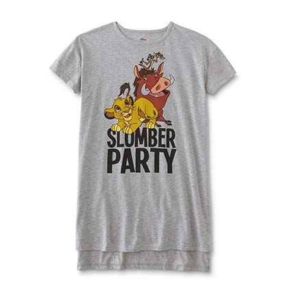 Disney The Lion King Slumber Party Women's Grey Sleep Night Shirt