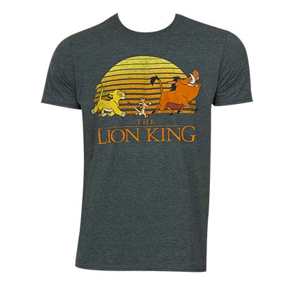Disney Lion King Men's Grey Logo T-Shirt
