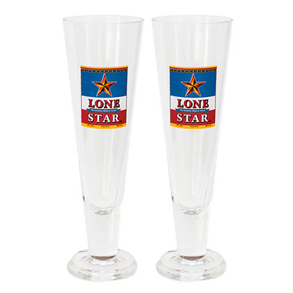 Lonestar Beer Two Pack Pilsner Beer Glasses