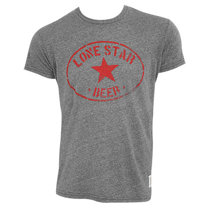 Lone Star Men's Gray Retro Brand Round Logo T-Shirt