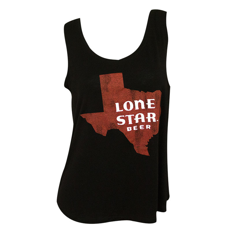 Lone Star Women's Black Retro Brand Texas Logo Tank Top