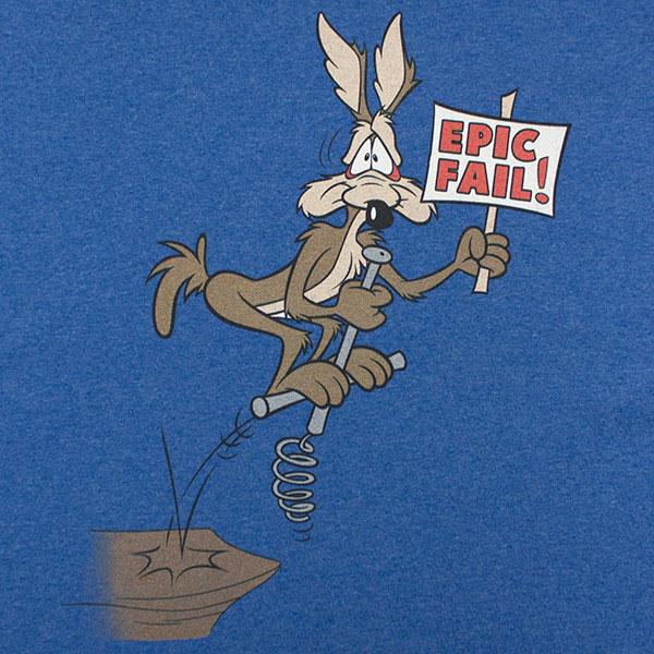 Looney Tunes Coyote Fail TShirt - Blue