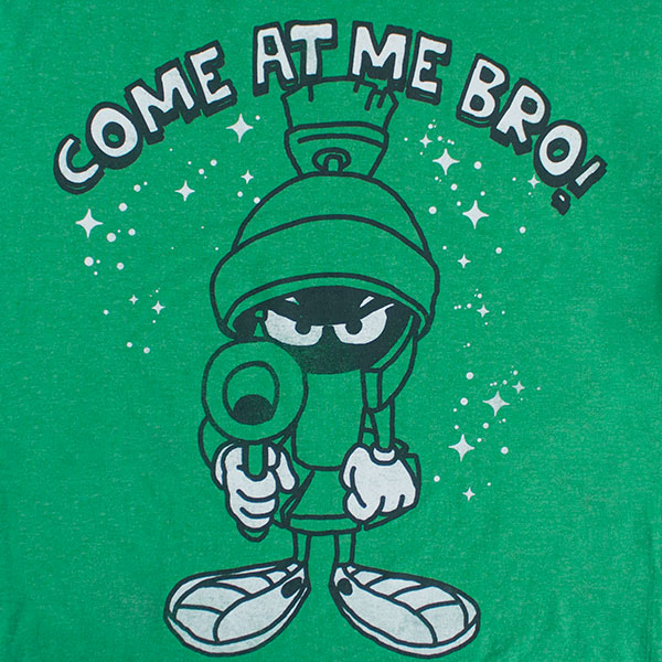 Looney Tunes Marvin Come At Me T Shirt - Green