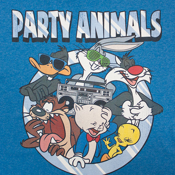 Looney Tunes Party Animals Tee - Blue