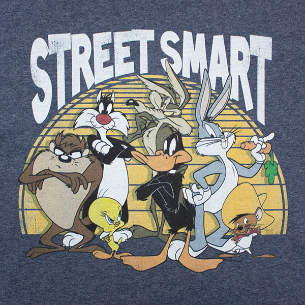 Looney Tunes Street Smart Tee - Blue Grey