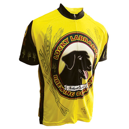 Lucky Labrador Men's Yellow Cycling Jersey