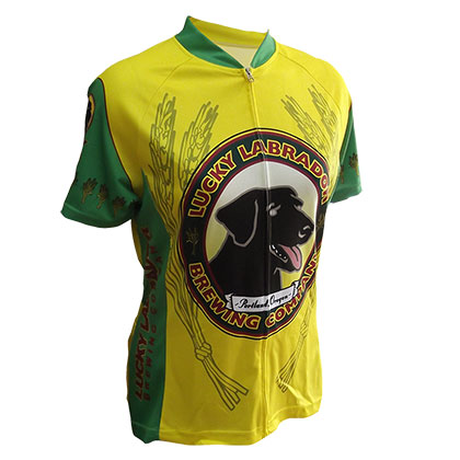 Lucky Labrador Women's Yellow Cycling Jersey