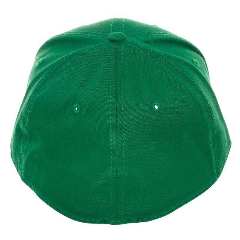 dfcb2cf5644 Super Mario Bros. Luigi Logo Flex Fit Green Men s Hat
