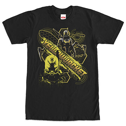 Ant-Man Yellowjacket Busy Bee Black T-Shirt