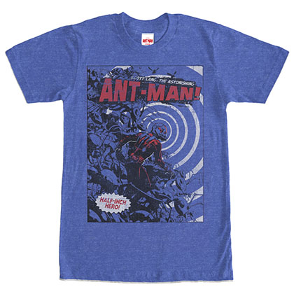 Ant-Man Half Inch Hero Heather Blue T-Shirt