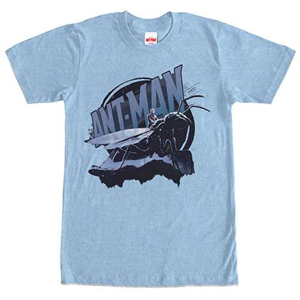 Ant-Man Riding Heather Blue T-Shirt