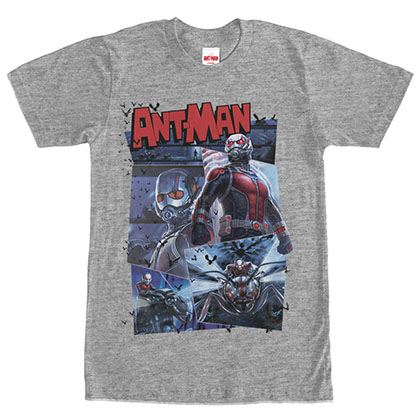 Ant-Man Comic Page Heather Gray T-Shirt