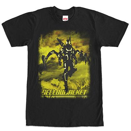 Ant-Man Yellowjacket Floater Black T-Shirt
