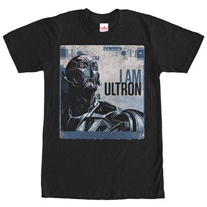 Avengers I Am Ultron Black T-Shirt