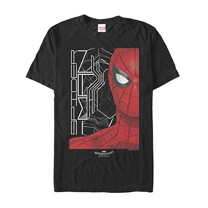 Spider-Man Homecoming Portrait Black Mens T-Shirt