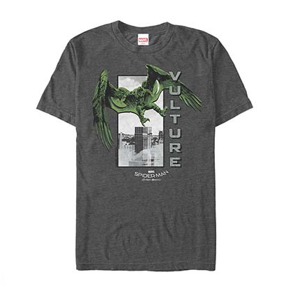 Spiderman Homecoming Vulture Vertical Gray Mens T-Shirt