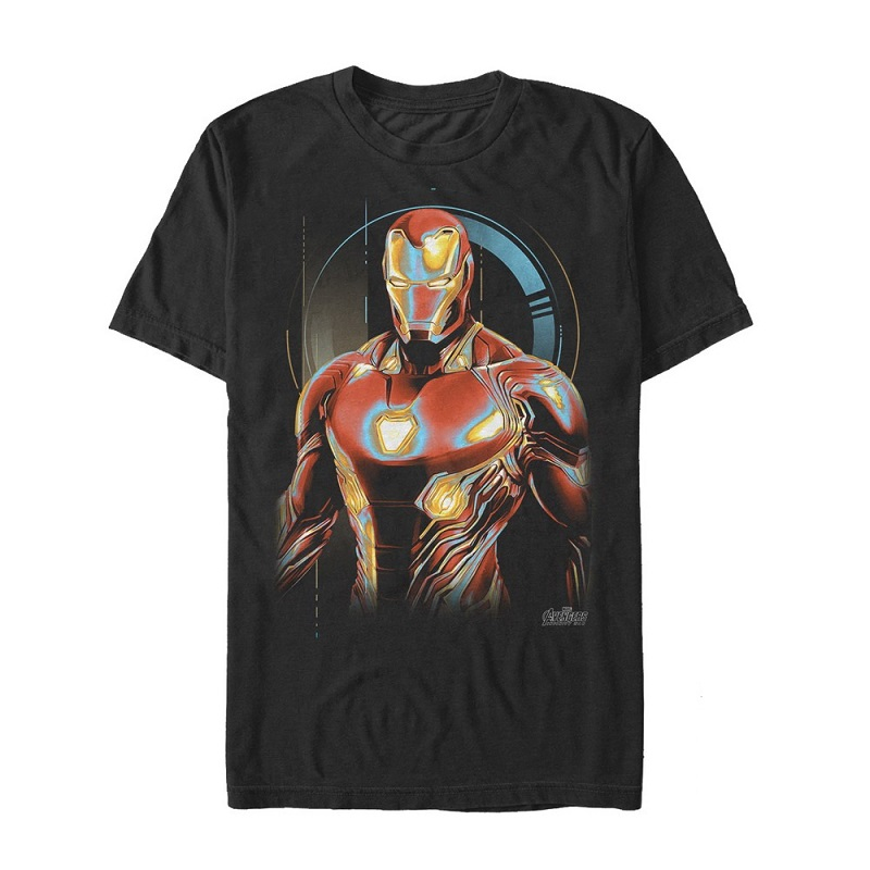 Iron Man Glow Black Tshirt