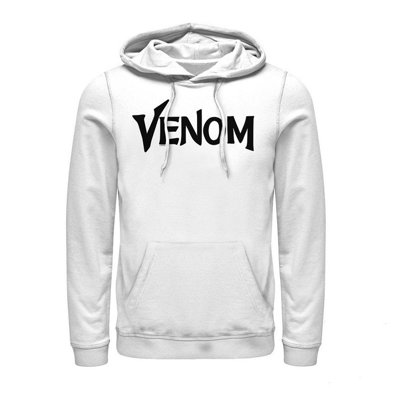 Venom Text Logo White Hoodie