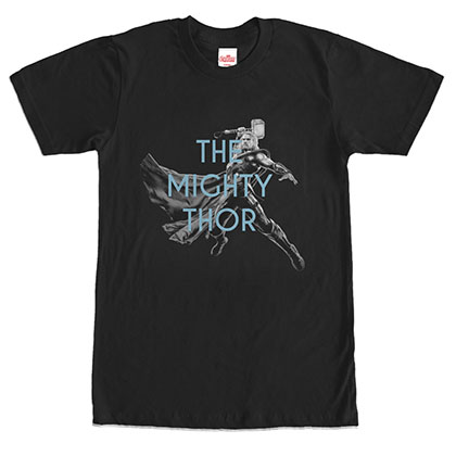Avengers The Mighty Thor Black T-Shirt