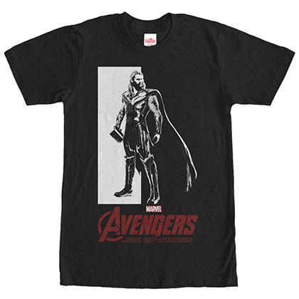 Avengers Thor Stare Black T-Shirt