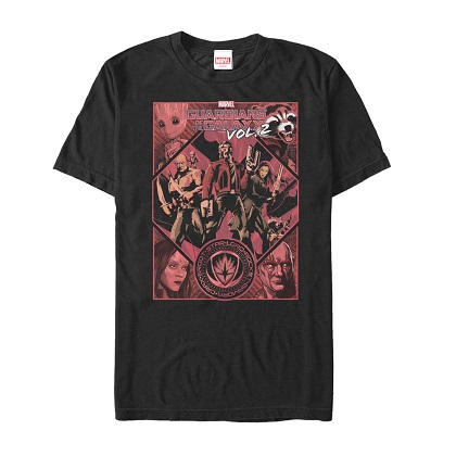 Guardians of the Galaxy Red Poster Tshirt
