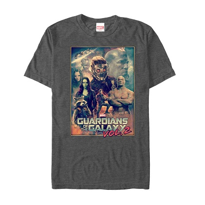 Guardians of the Galaxy Poster Grey Tshirt