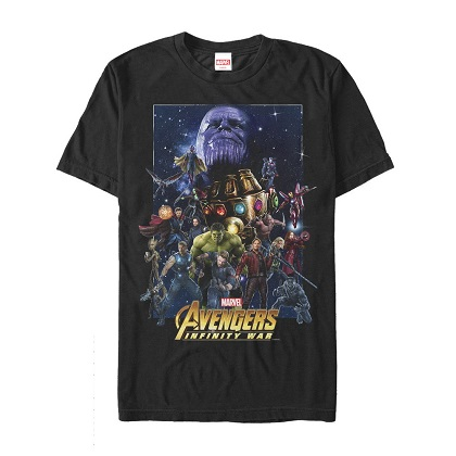 Avengers Infinity War Movie Poster Tshirt