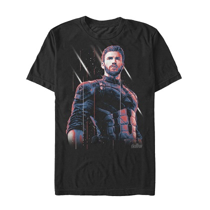 Captain America Old Soldier Black Tshirt