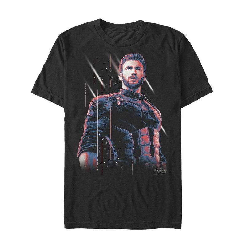 Captain America Old Soldier Black Tshirt