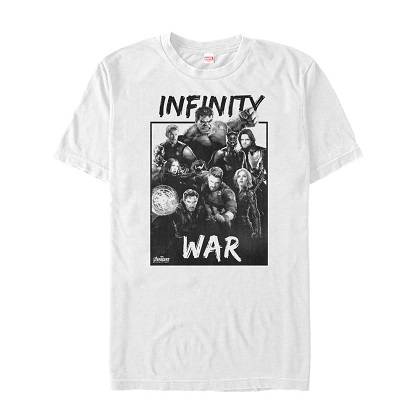 Avengers Infinity War Group Shot White Tshirt