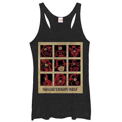 Daredevil Vintage Black Heather Juniors Tank Top