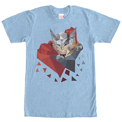Avengers Low Poly Thor Blue T-Shirt