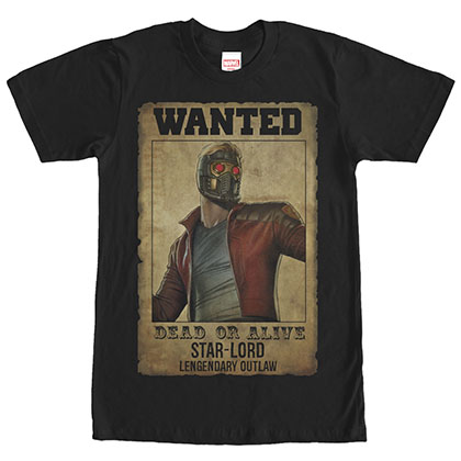Guardians Of The Galaxy Legendary Outlaw Black T-Shirt