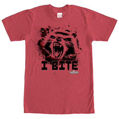 Guardians Of The Galaxy Furry Bite Red T-Shirt